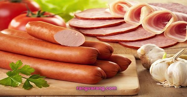 منجمد کردن انواع گوشت از جمله سوسیس و کالباس