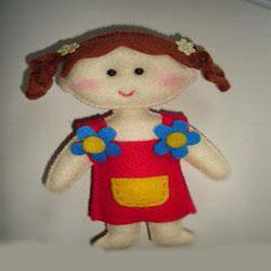 دوخت عروسک نمدی