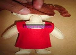 عروسک نمدی-اتصال سر به گردن عروسک