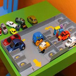 ساخت پارکینگ مقوایی