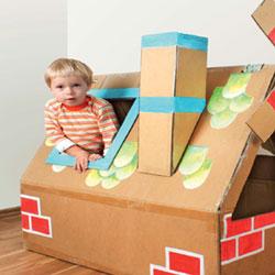 ساخت خانه باری کودک با مقوا