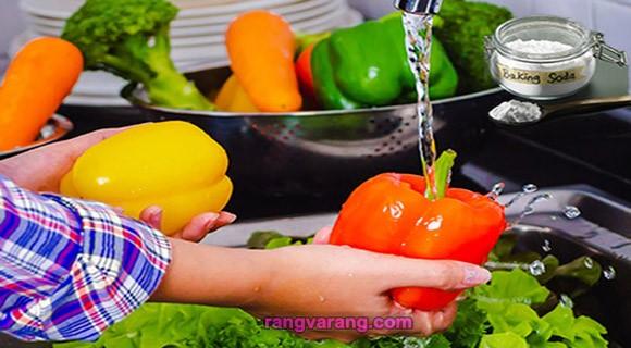 ضدعفونی سبزی و میوه با جوش شیرین