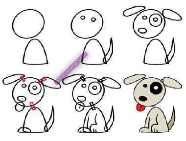 تصویر نقاشی سگ برای کودکان