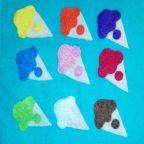 آموزش رنگ ها به کودکان با نمد: