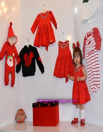 لباس شب یلدا کودکان- سارافون با تم یلدا