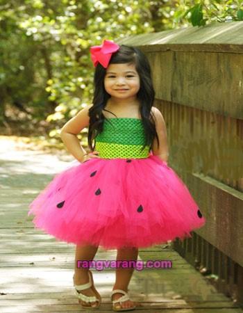 لباس شب یلدا کودکان - با دامن توتو یلدایی