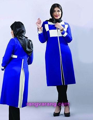 مدل مانتو زنانه و دخترانه به رنگ آبی