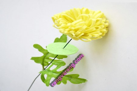 گل نمدی ساده و زیبا
