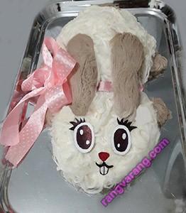 تزیین پشمک به شکل خرگوش