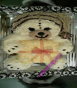 تزیین پشمک به شکل خرس