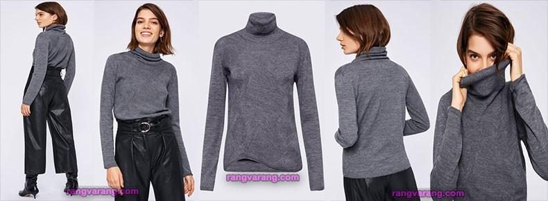 لباس گرم زنانه با شلوار مد جدید