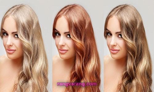 پکیج آموزش رنگ کردن مو در خانه
