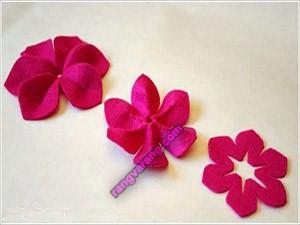 آموزش گلهای نمدی + الگو