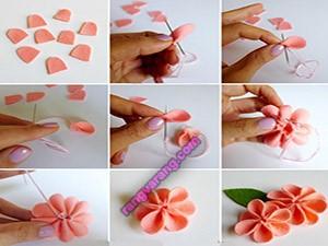آموزش گلهای نمدی زیبا