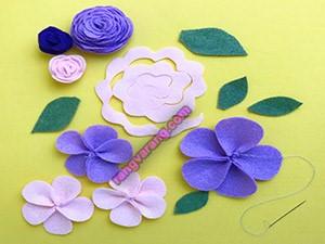 آموزش قدم به قدم تصویری گلهای نمدی