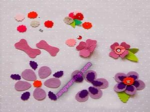 آموزش تصویری گلهای نمدی