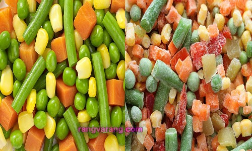 سبزیجات منجمد و تازه