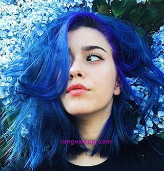 رنگ مو سال 2020 - رنگ آبی کلاسیک