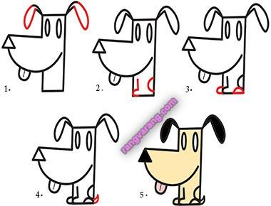 کشیدن نقاشی سگ برای کودکان
