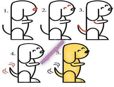 نقاشی سگ برای کودکان