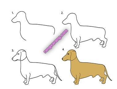 عکس نقاشی سگ برای کودکان