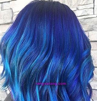 رنگ مو سال - رنگ آبی کلاسیک و آبی فیروزه ای2020