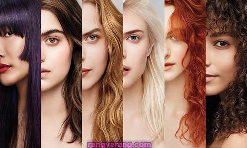 آموزش انواع ترکیب رنگ مو در خانه