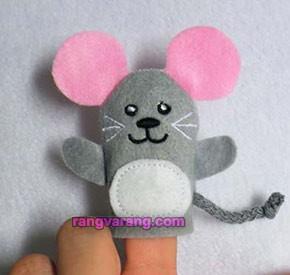 موش نمدی انگشتی
