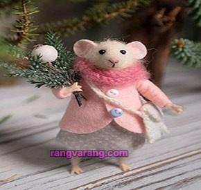موش نمدی  با پشم نمد