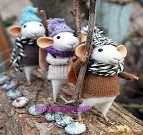 عروسک موش با الیاف نمدی