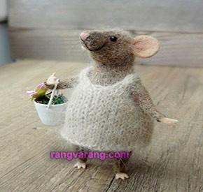 موش نمدی با الیاف نمد