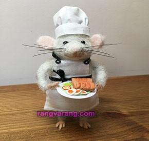 موش سرآشپز با نمد