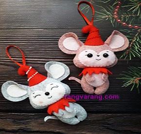 موش نمدی کریسمس