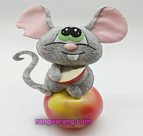 مدل موش نمدی شکمو