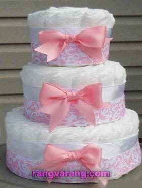 کیک پوشکی چند طبقه