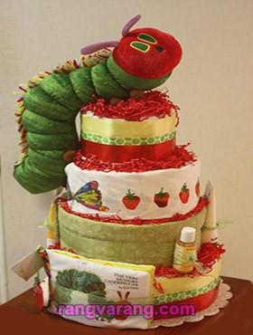 تزیین کیک پوشک با عروسک