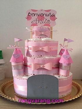 مدل کیک پوشک دخترانه