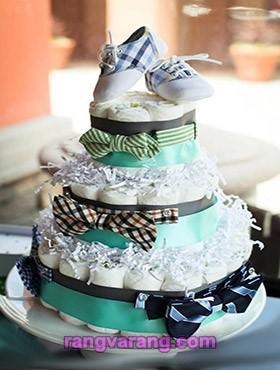 کیک پوشک پسرانه