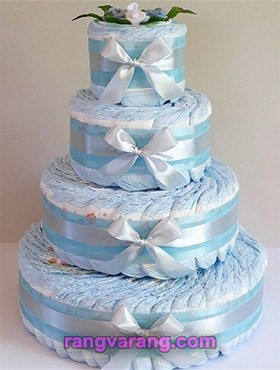 Decorate diaper cakes