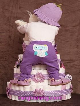 تزیین کیک پوشک- Diaper cake