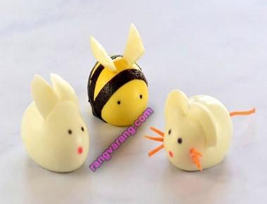 مدل تزیین تخم مرغ آب پز عروسکی