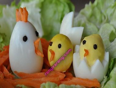 مدل تزیین تخم مرغ آب پز