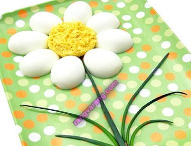 مدل تزیین تخم مرغ آب پز صبحانه