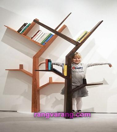 کتابخانه طرح درخت برای بچه ها