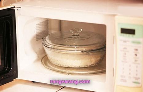 روش های پخت برنج - پخت برنج در ماکروفر