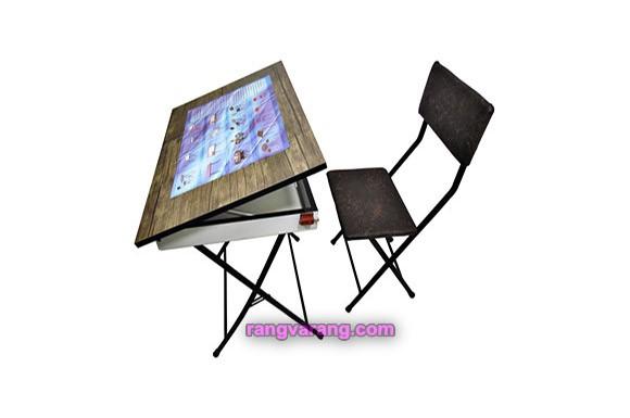 میز تحریر باکسدار و صندلی مدل رنگی (ضدخش،تاشو،تنظیم شونده ارتفاع)