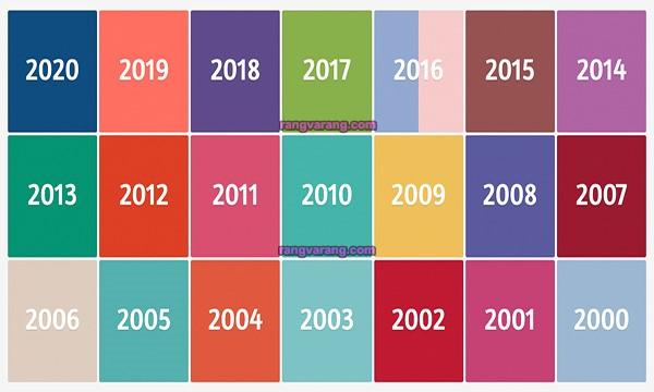 رنگ سال 2021 و رنگ سال های قبل