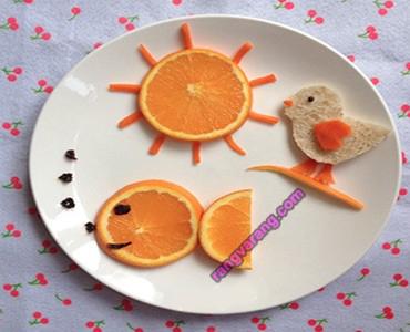 مدل تزیین میوه کودک