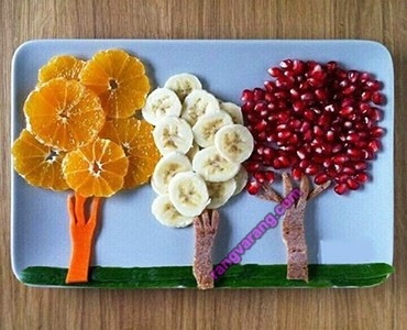 تزیین میوه کودک آسان