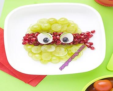 تزیین میوه کودک ساده